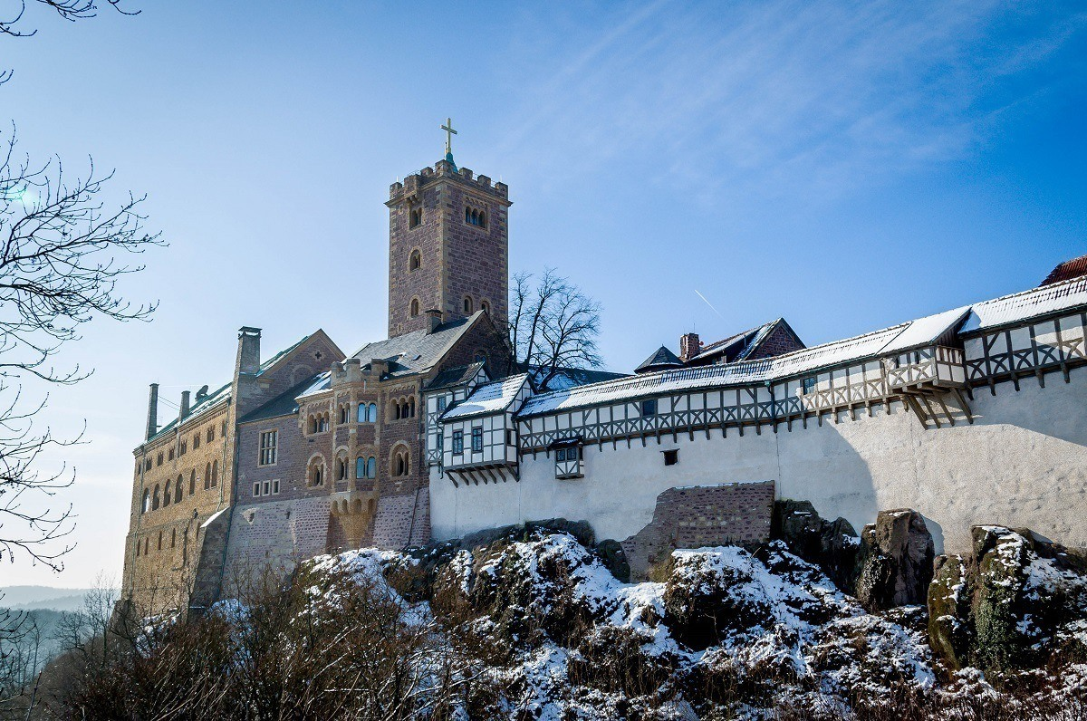 The Wartburg Castle above the town of Eisenach