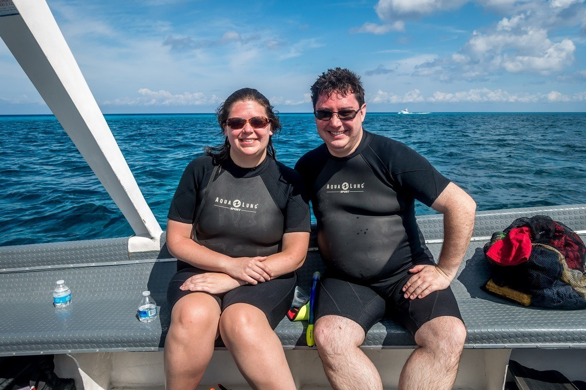 Lance and Laura on the Dive with Martin boat
