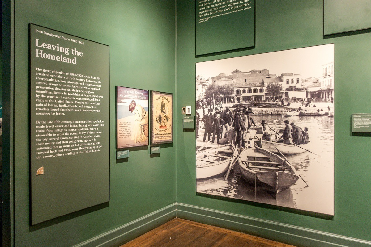 Exhibit at The Ellis Island National Museum of Immigration