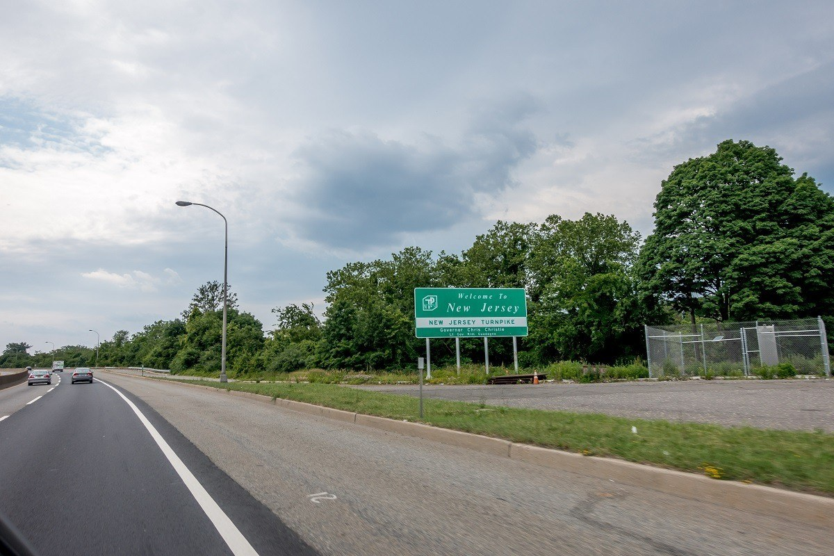 Welcome to New Jersey sign along the highway