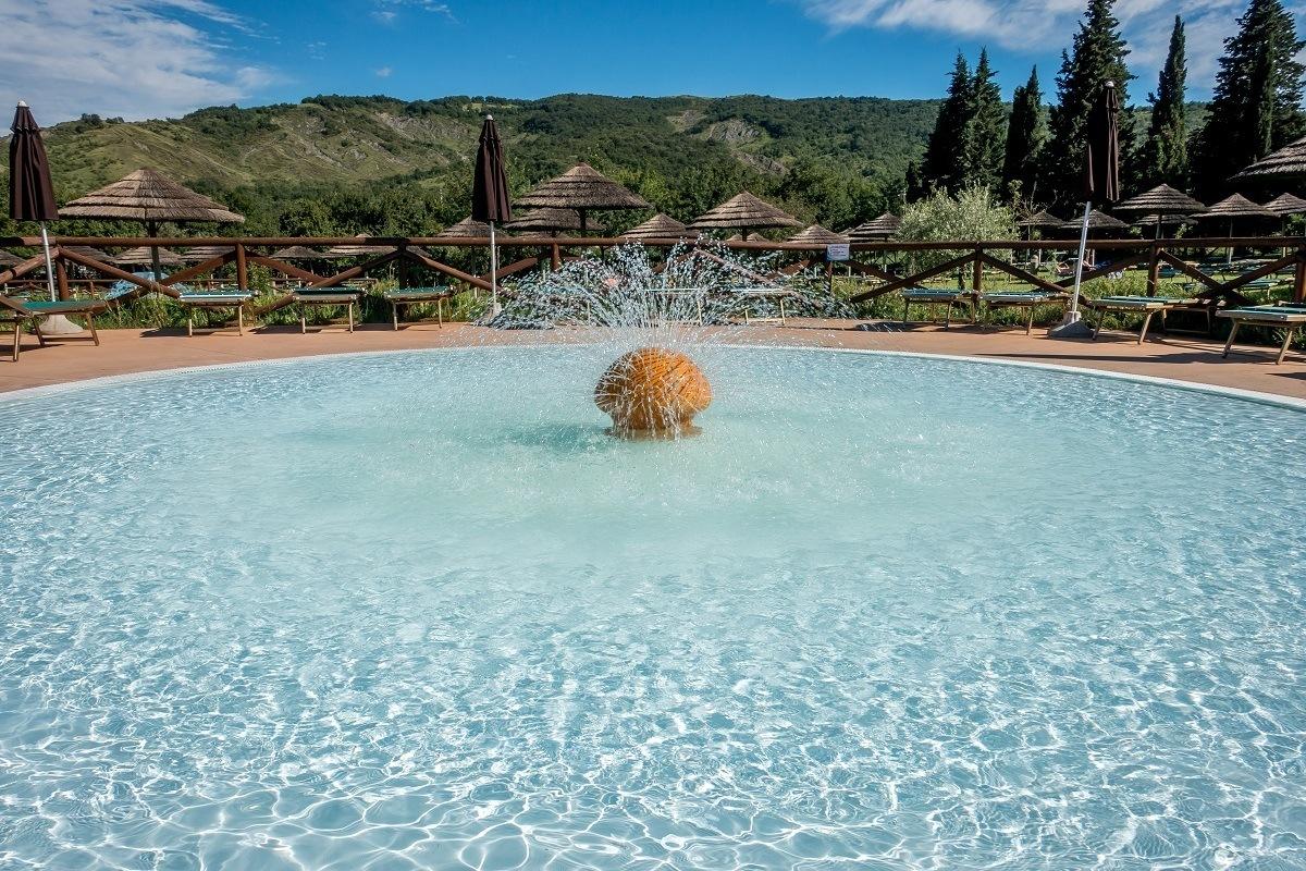 One of the relaxing pools at Villaggio della Salute Piu