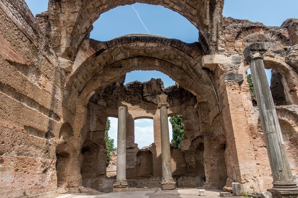 Ruins of arches and columns