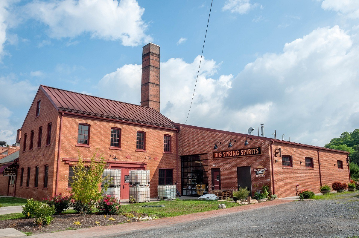Red brick historic Match Factory now home to Big Spring Spirits