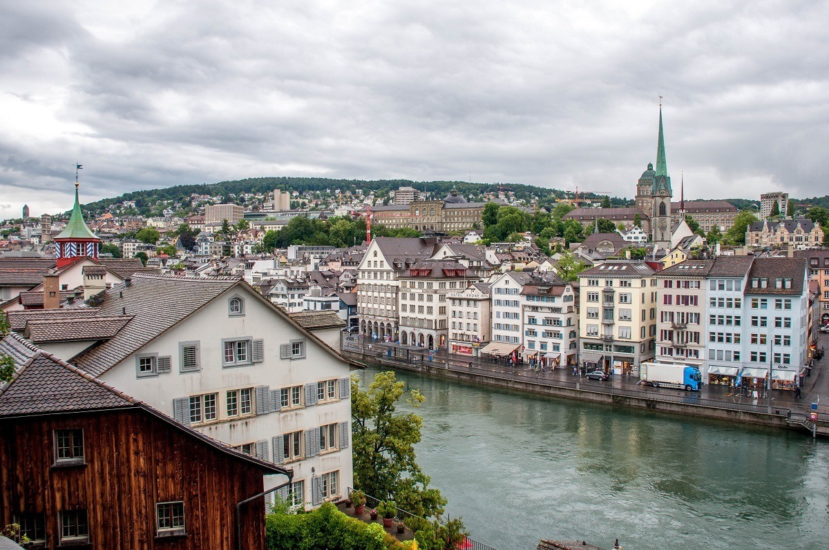 Exploring the old city on a Zurich walking tour