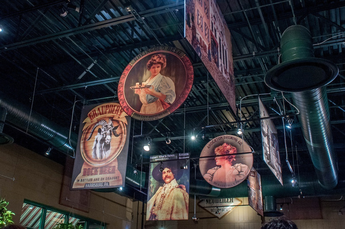 Posters showing the history of brewing in Pennsylvania