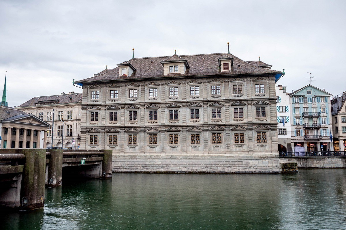 The Zurich Rathaus over the Limmat River
