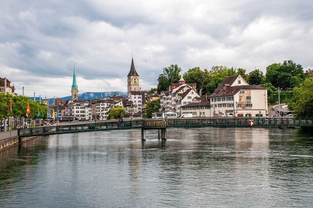 The old town of Zurich on the Limmat River
