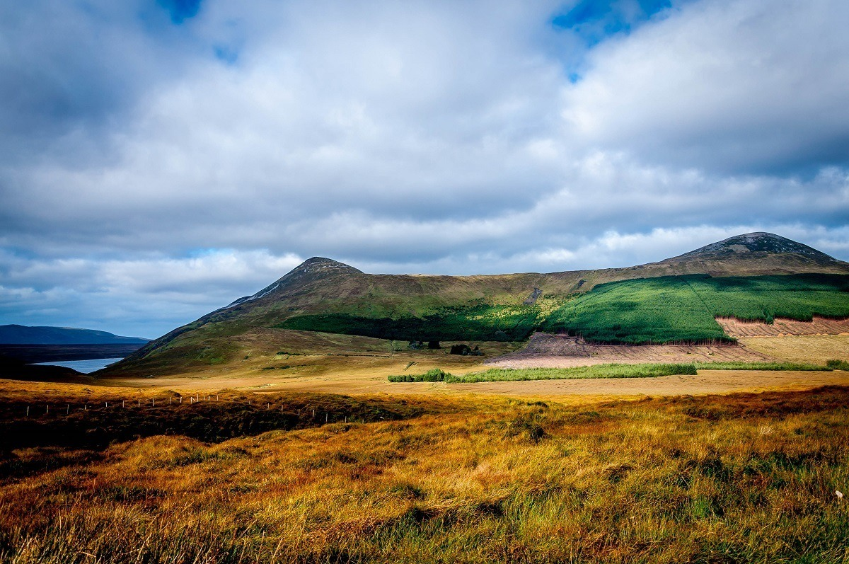 Colorful hillsides of Donegal, Ireland