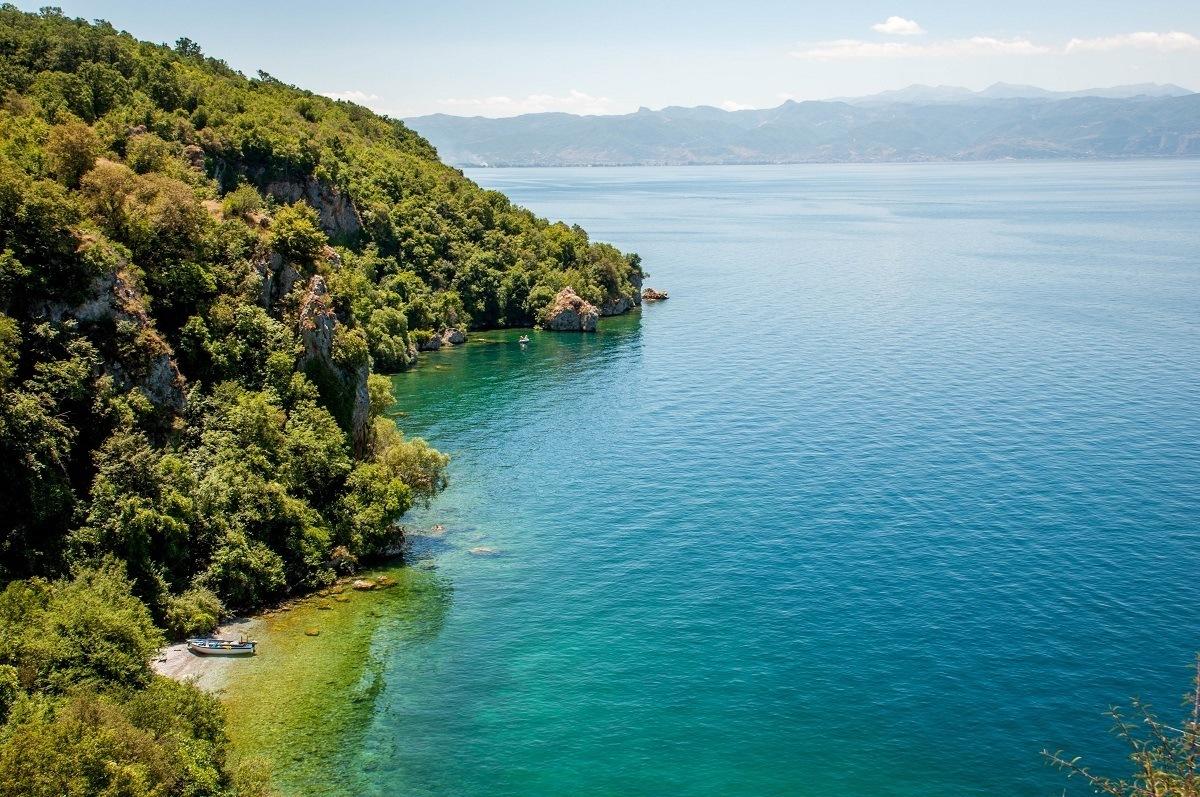 A small cove on Lake Ohrid Macedonia