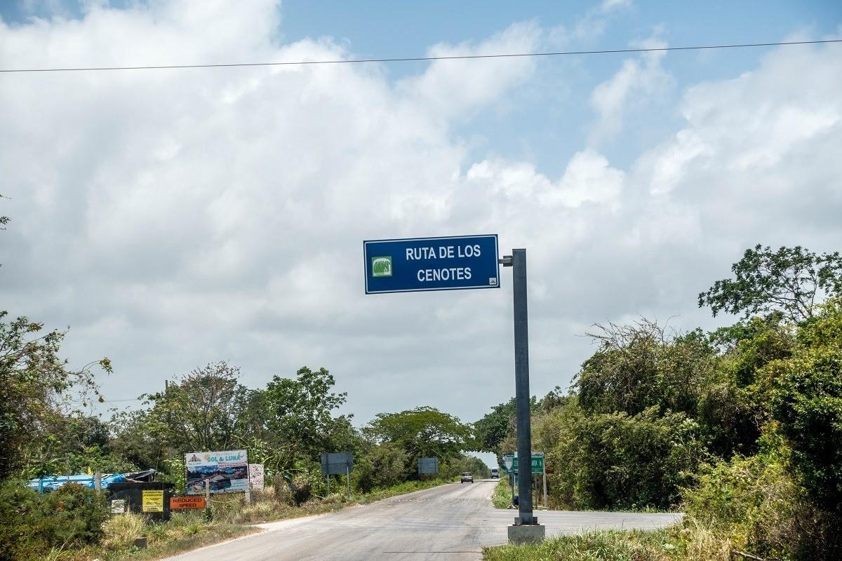 The Ruta de los Cenotes tourist trail on the Riviera Maya