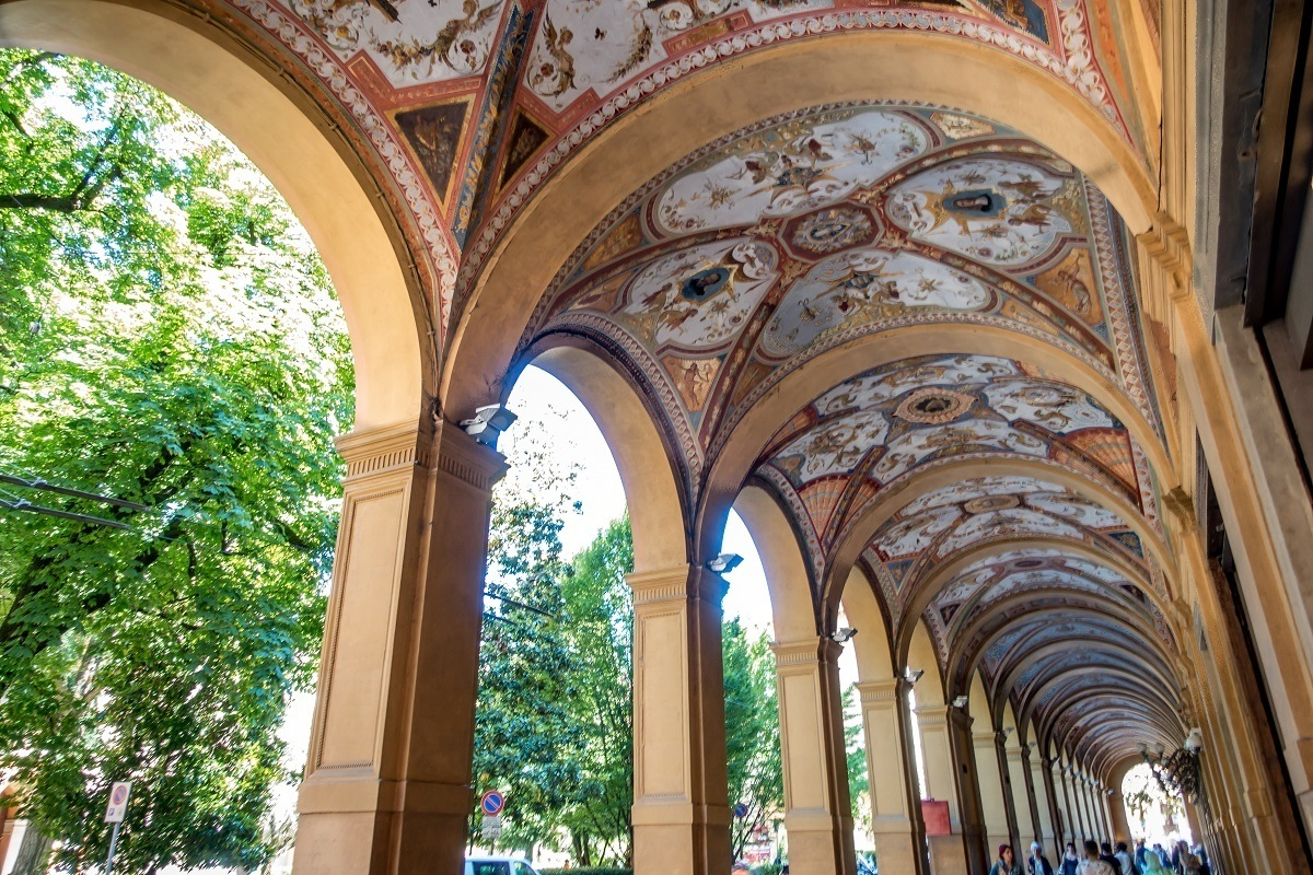 Colorful porticoes