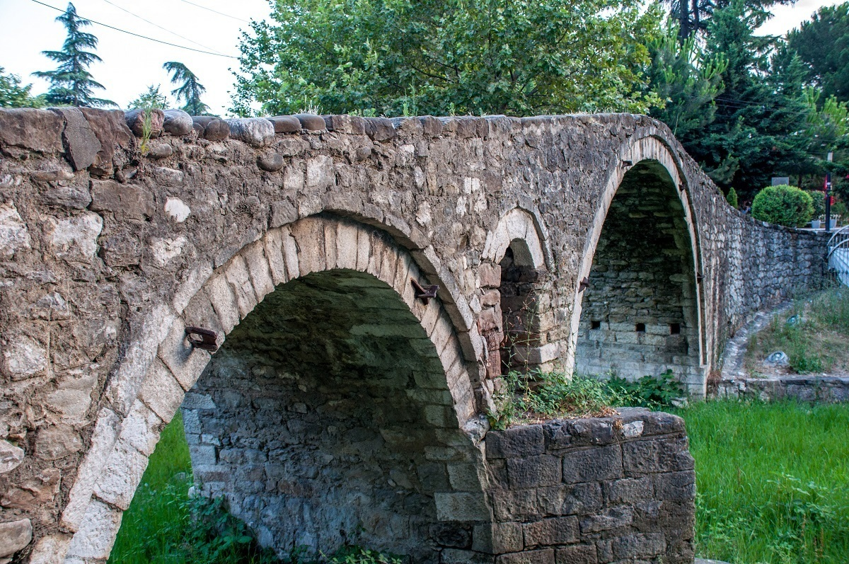 Old arched stone bridge