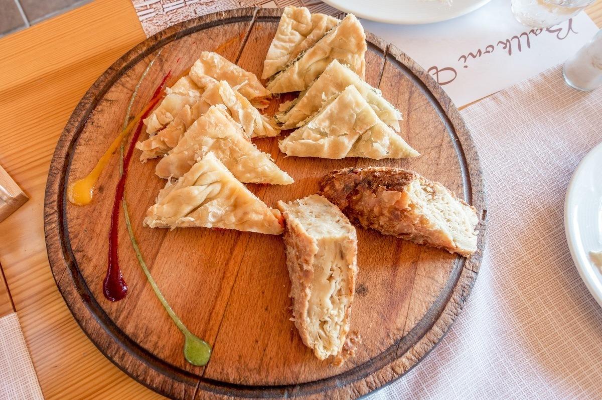 Burek, a layered, savory pie made with phyllo