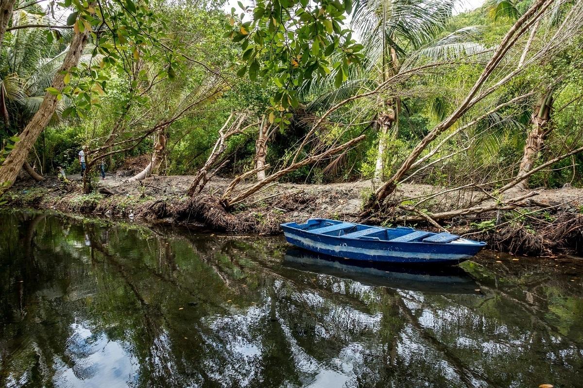 Boat in a creek outside Puerto Plata, Dominican Republic