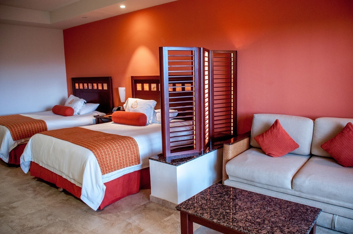 The bedrooms at Tres Rios are all suites