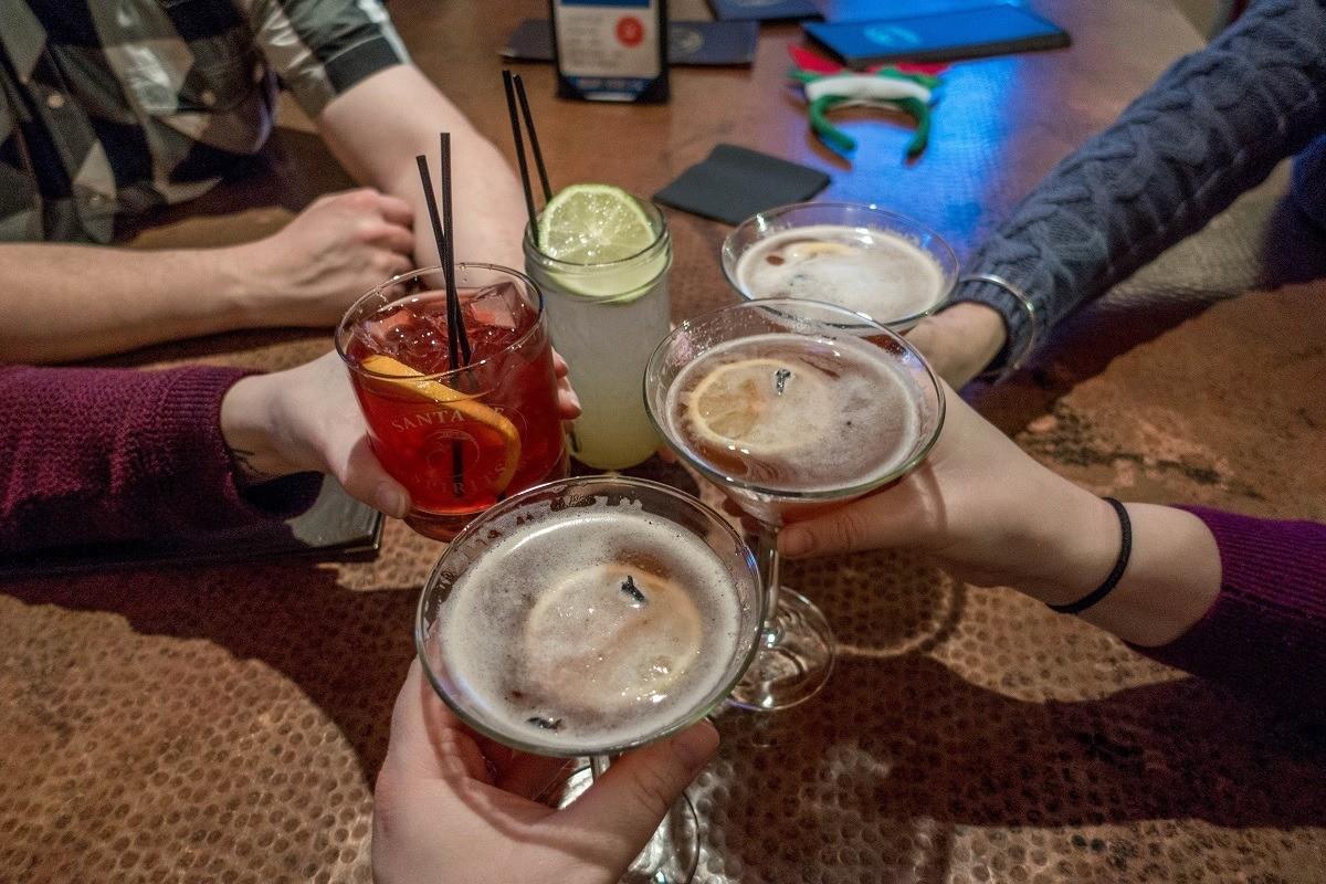 Cocktail toast at Santa Fe Spirits