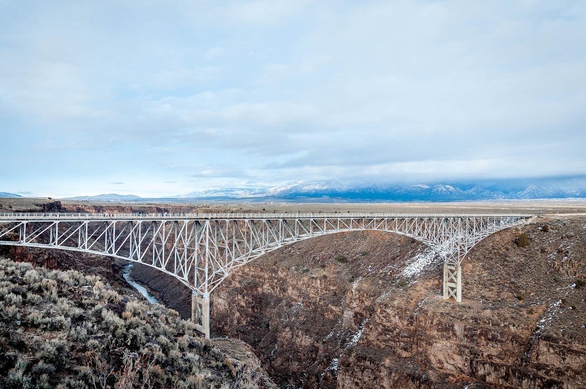 White Rio Grande Gorge Bridge in Taos, New Mexico
