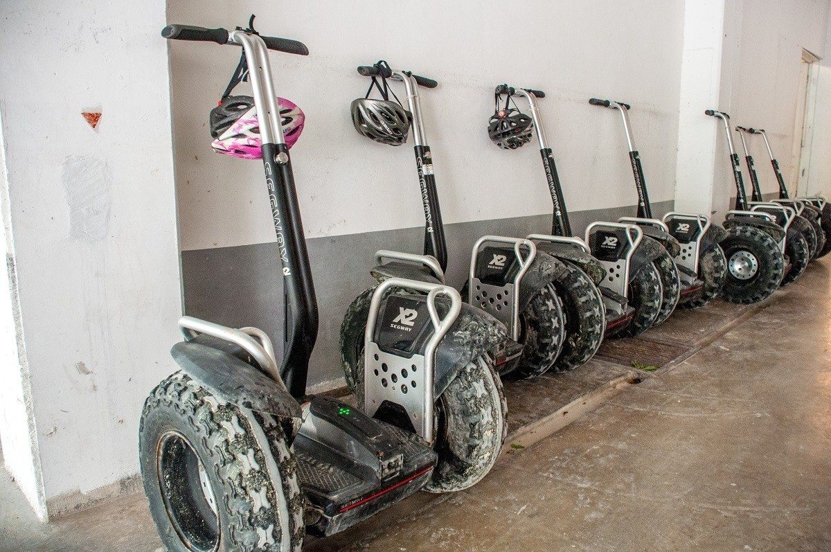 Line of Segways for tours