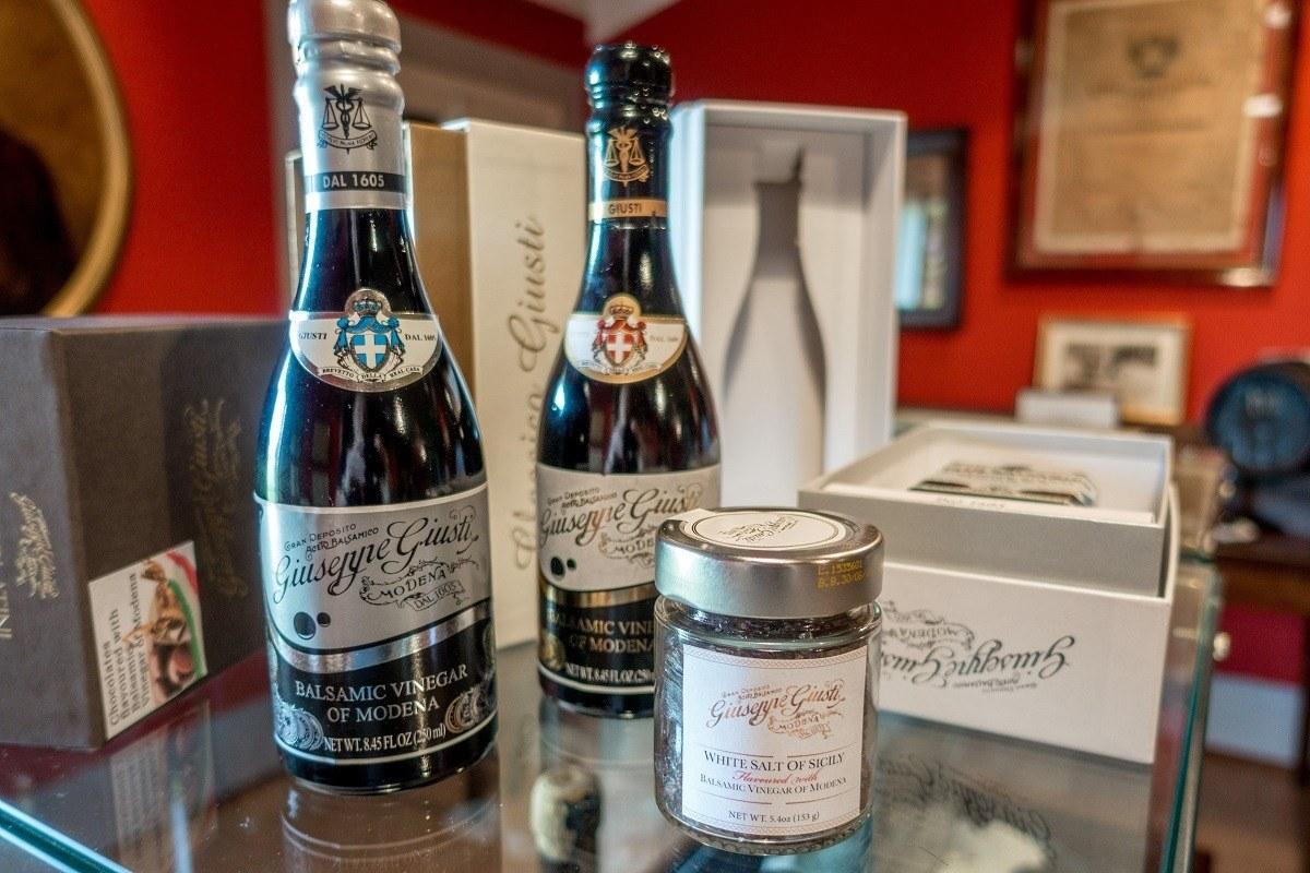Bottle of balsamic vinegar of Modena, Italy