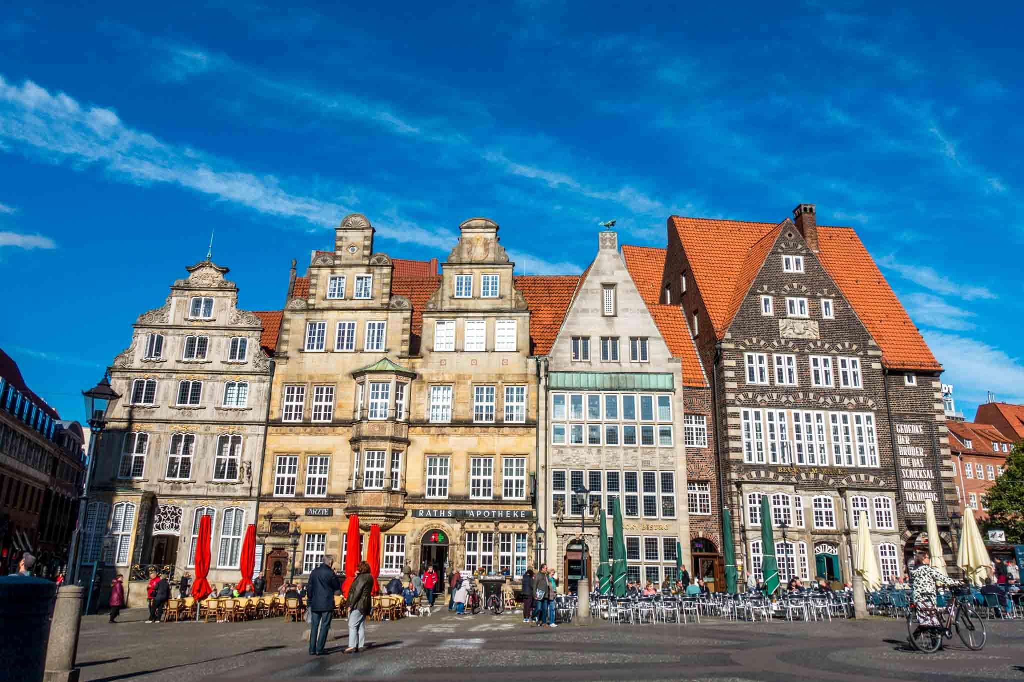Historic merchant houses in Bremen Germany