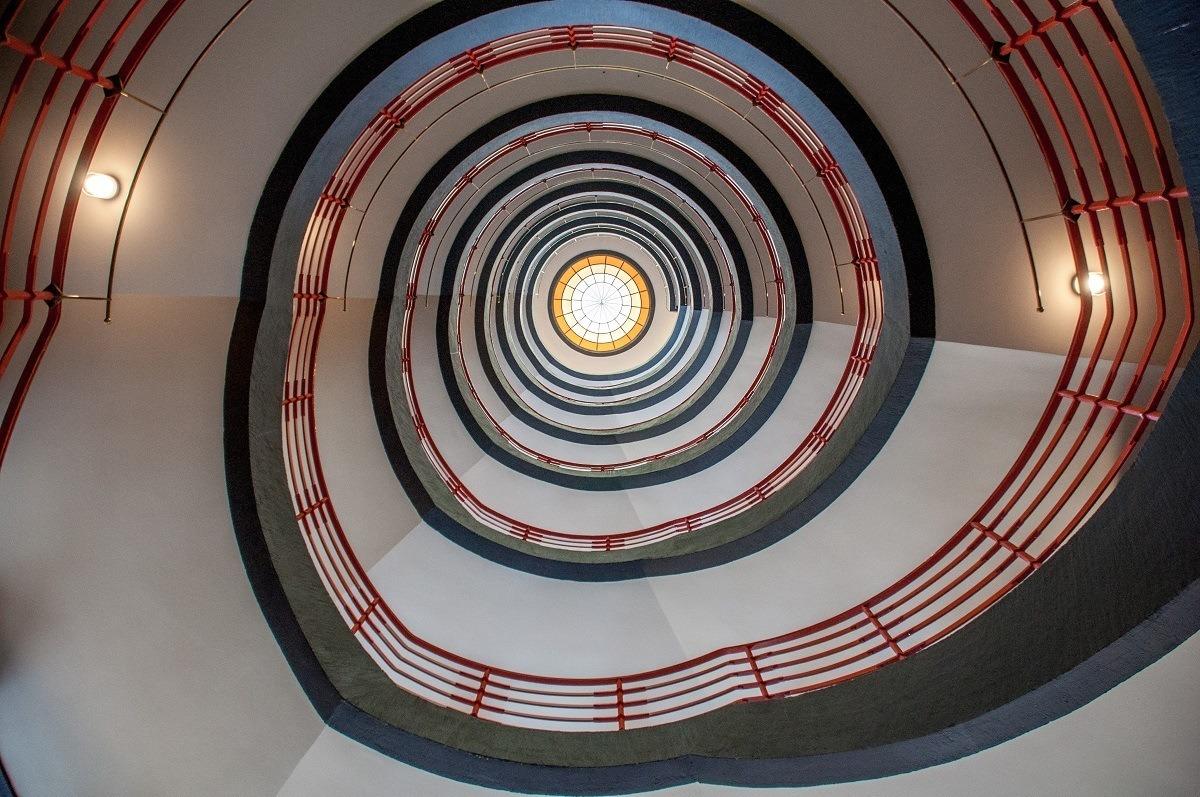 Spiral staircase in Hamburg's Kontorhaus District