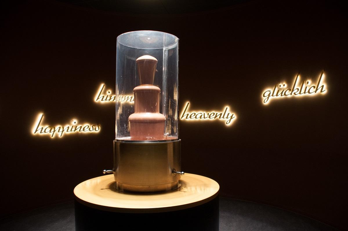 Chocolate fountain on display at Chocoversum