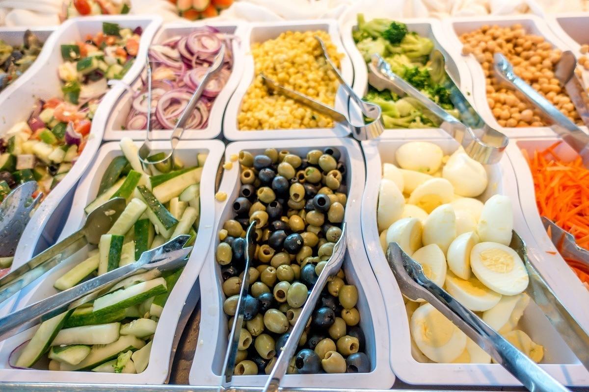 Salad bar ingredients