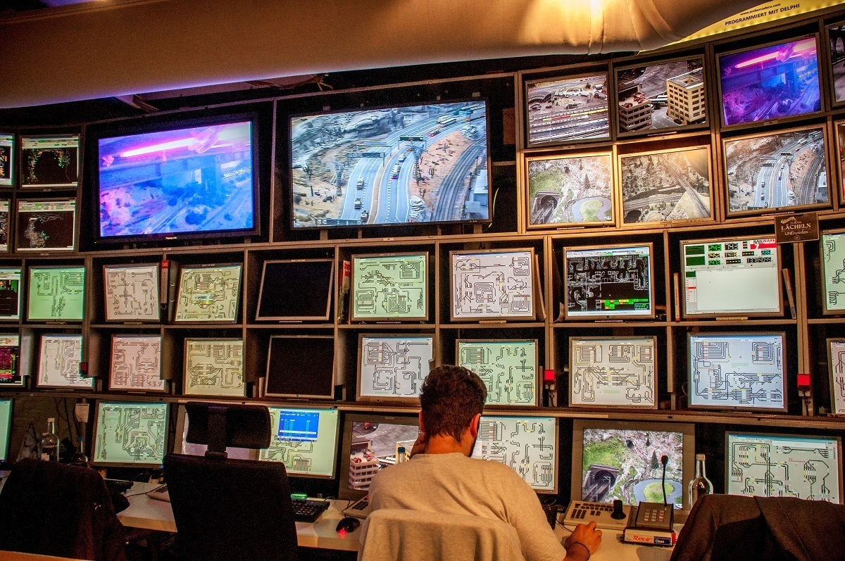 The computer control room