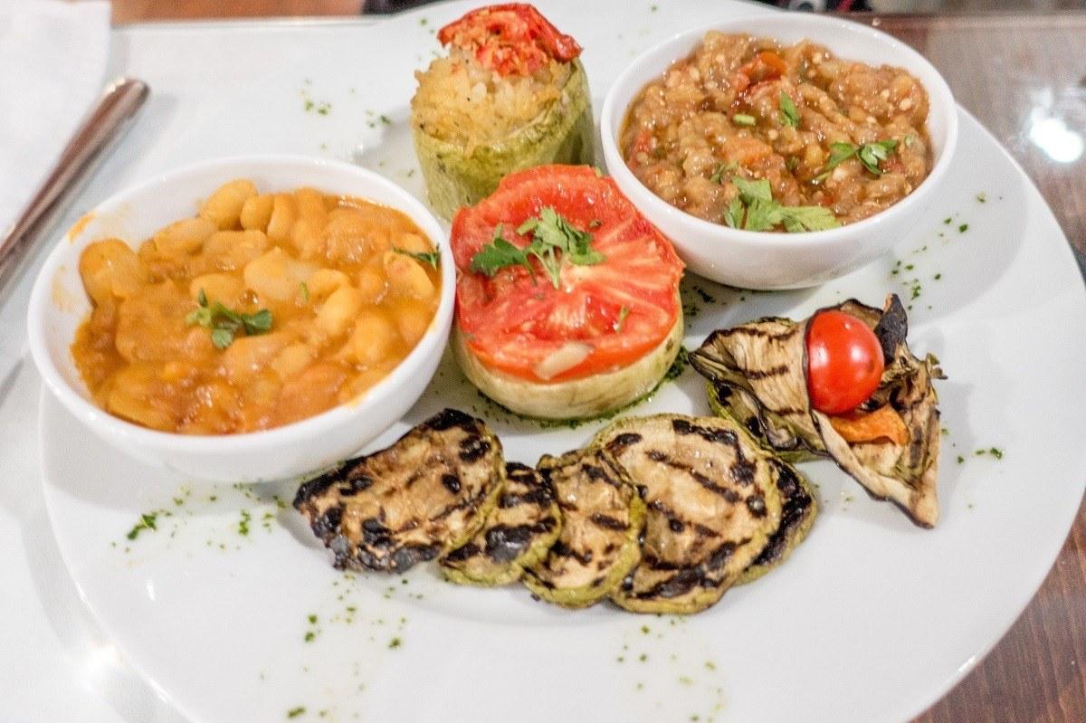 Dinner of vegetables