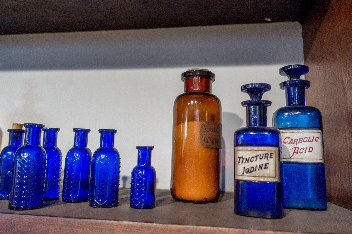Medicine bottles in the apothecary