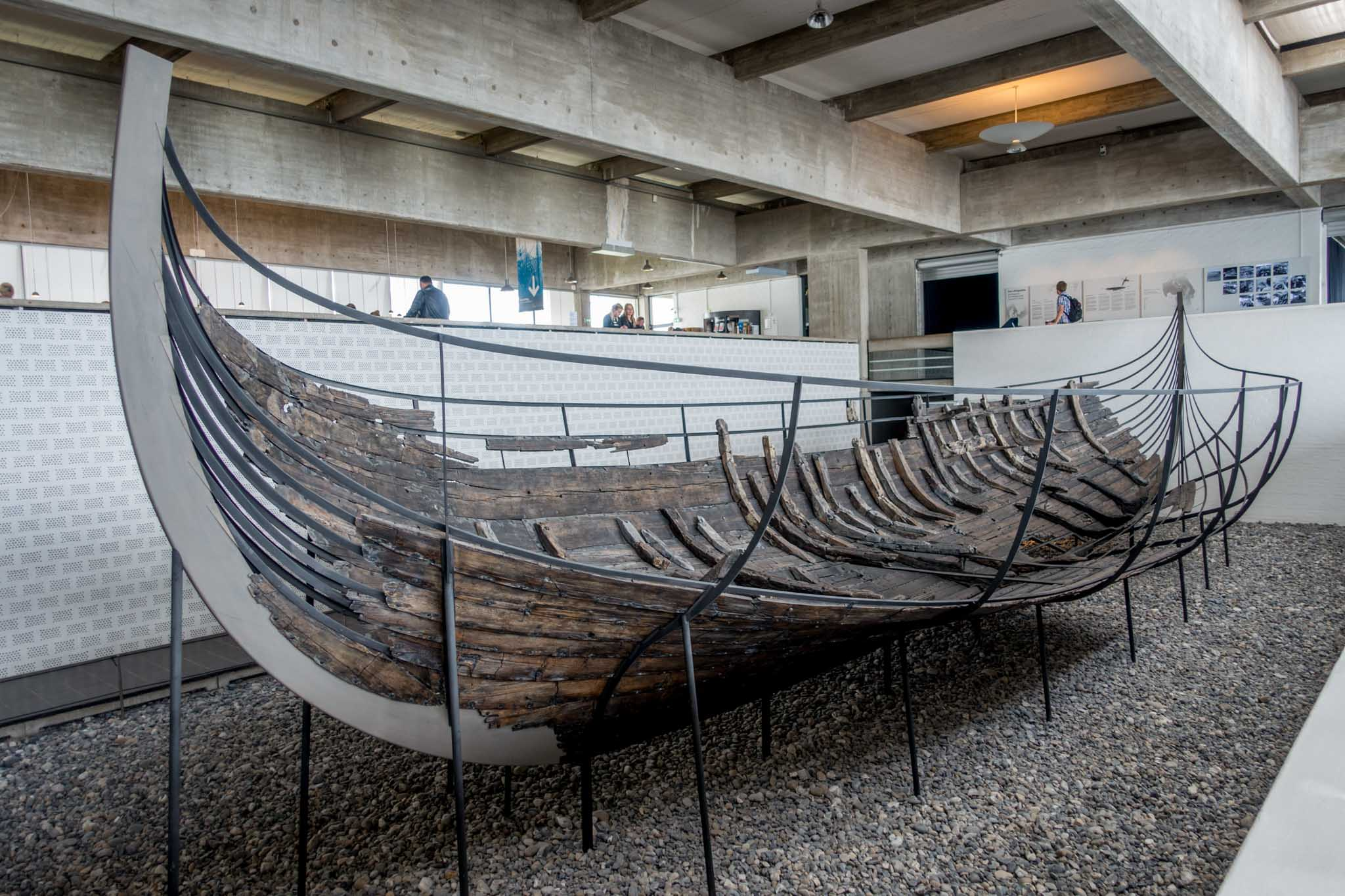Ruins of 1000-year-old wooden ship on display in Denmark