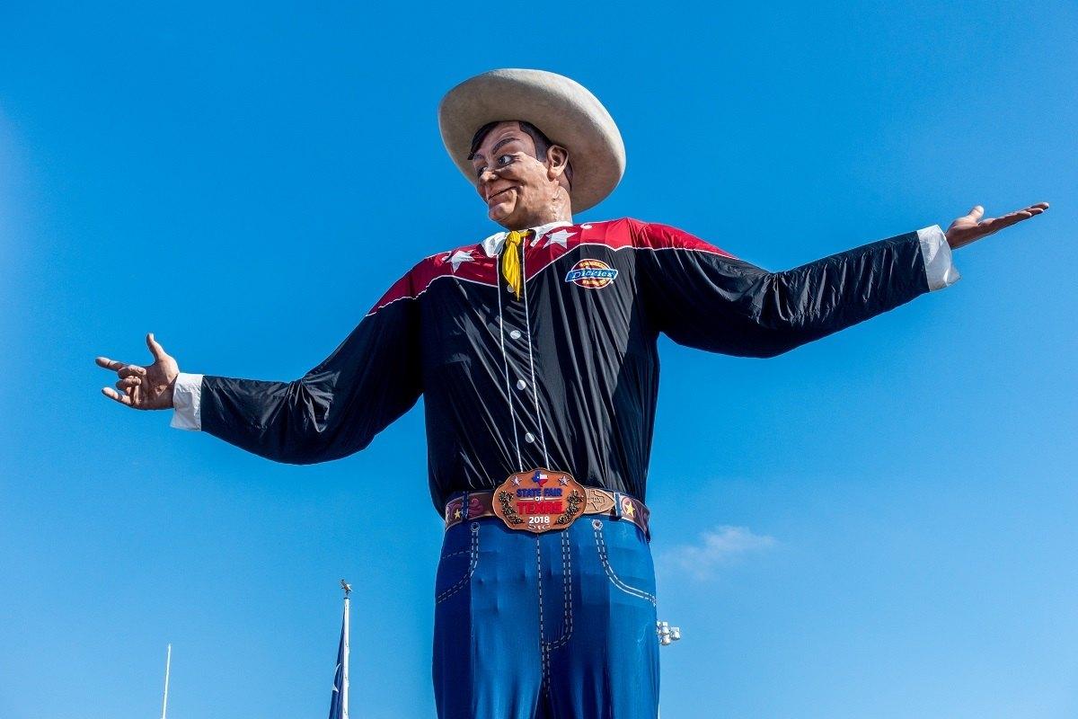 Big Tex, a large animatronic cowboy