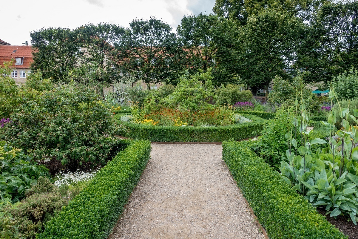 King's garden with bushes and flowers