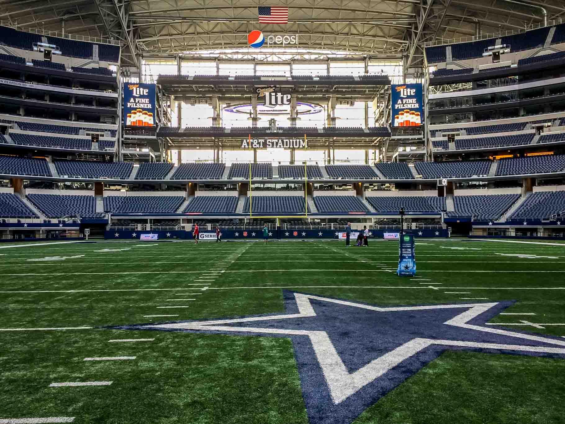 Dallas Cowboys Stadium from field level