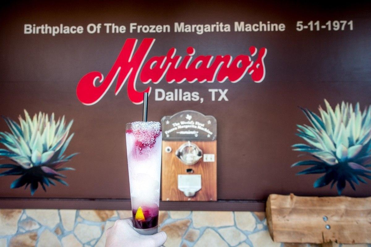 "Frozen margarita at Mariano's, the ""birthplace of the frozen margarita machine"""