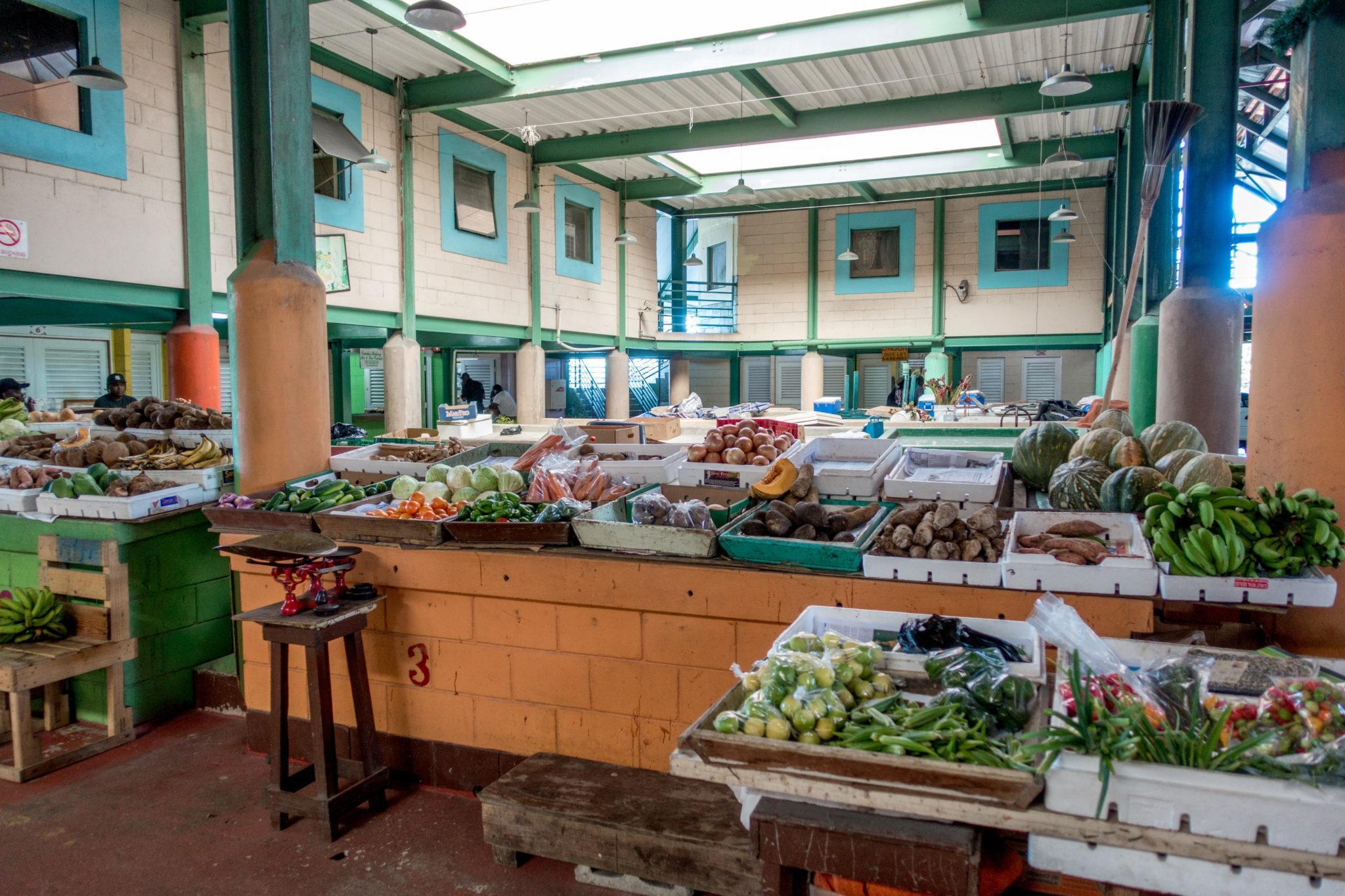 Vegetables for sale in St. John's Market