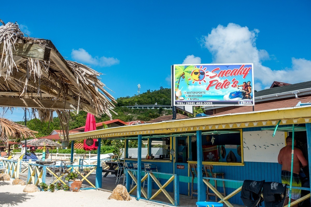 Sneaky Pete's on Dickenson Bay Beach