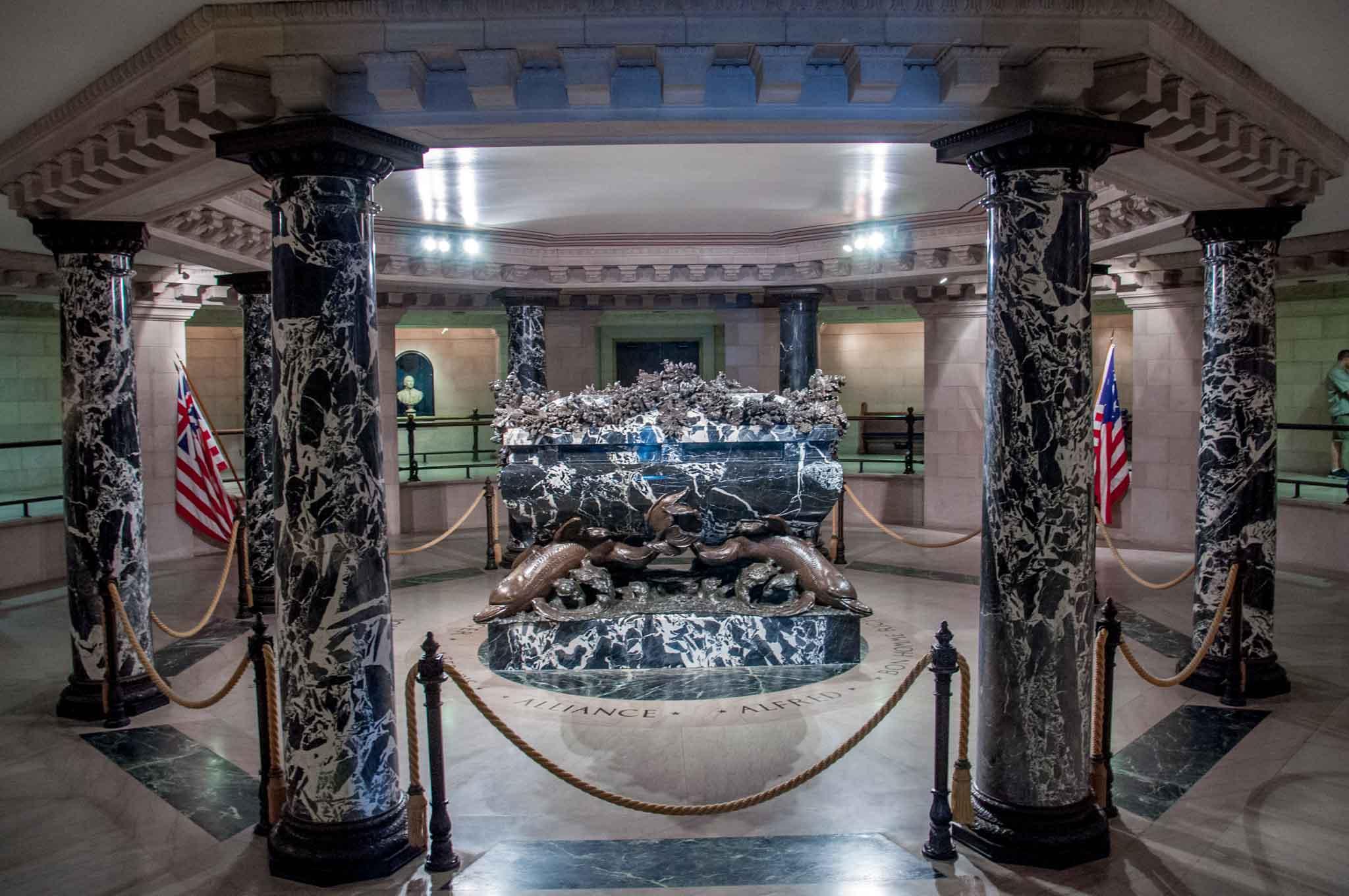 Black marble crypt