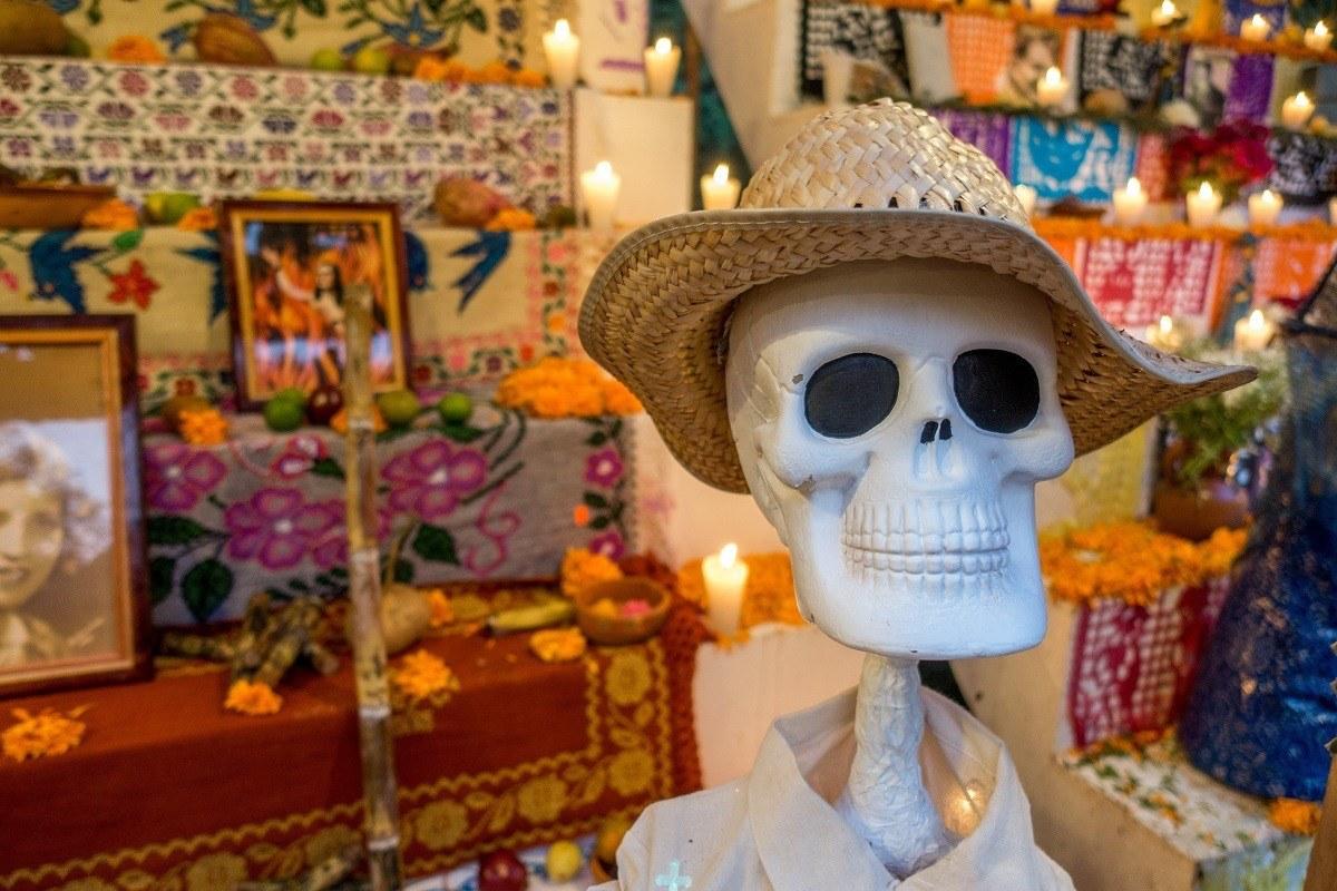 Skeleton and altar