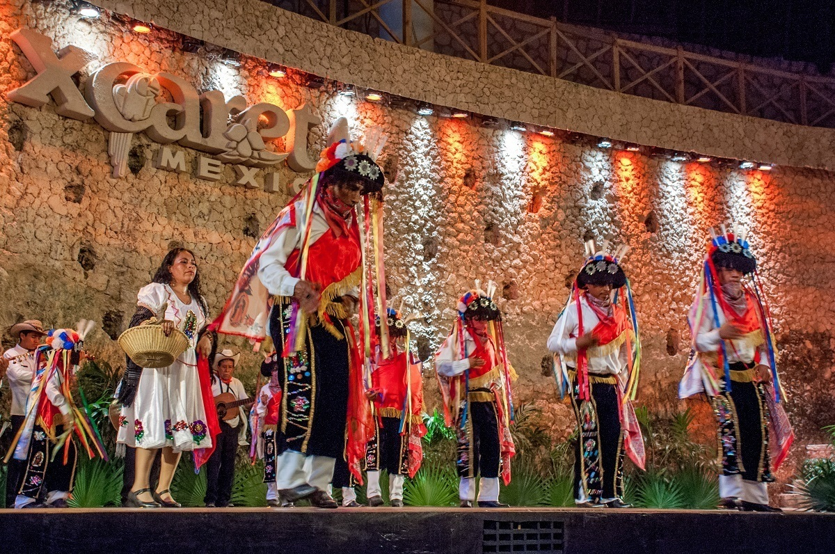 Dancers from Puebla performing at the Festival of Life and Death