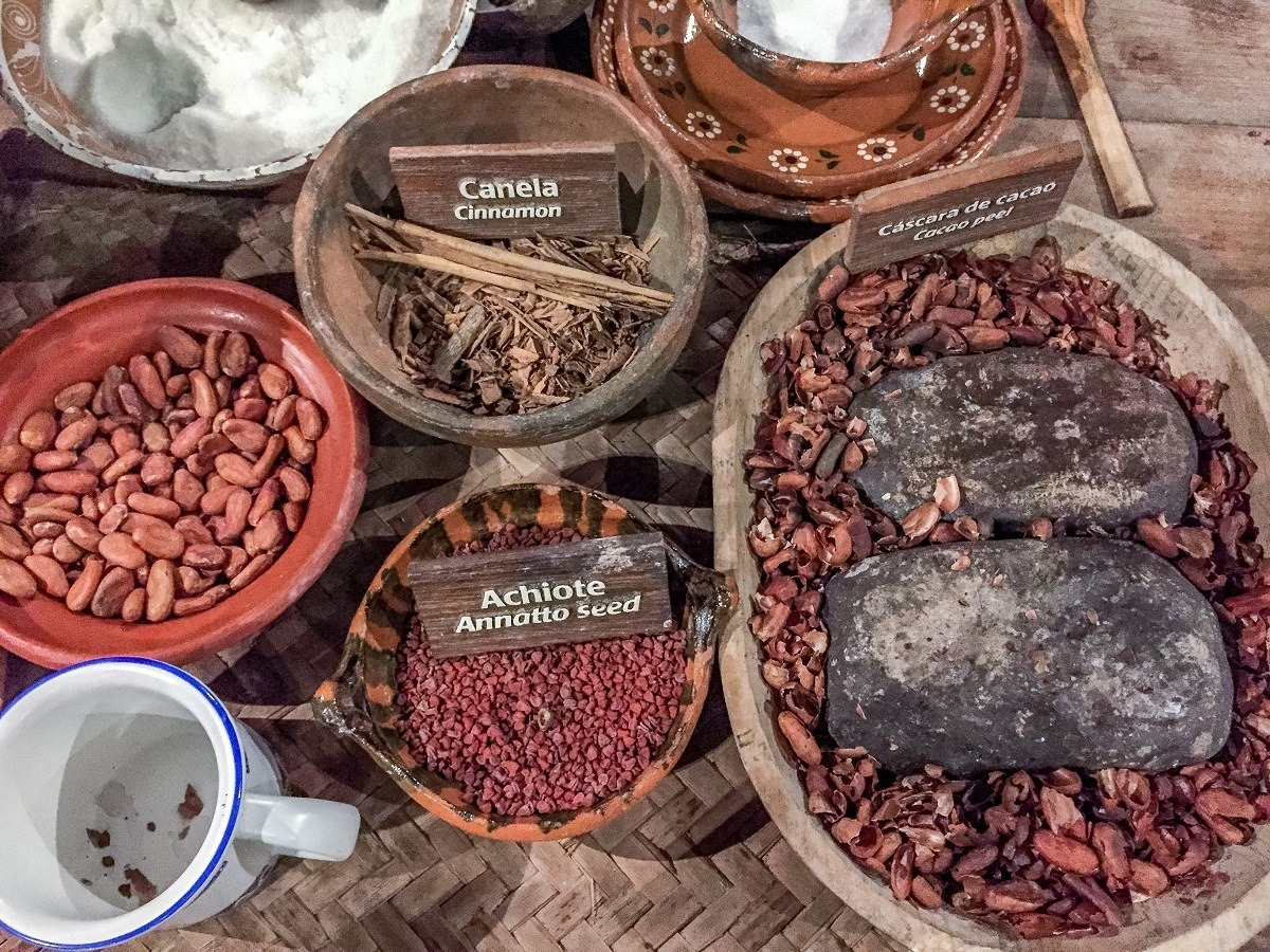 Ingredients for making chocolate