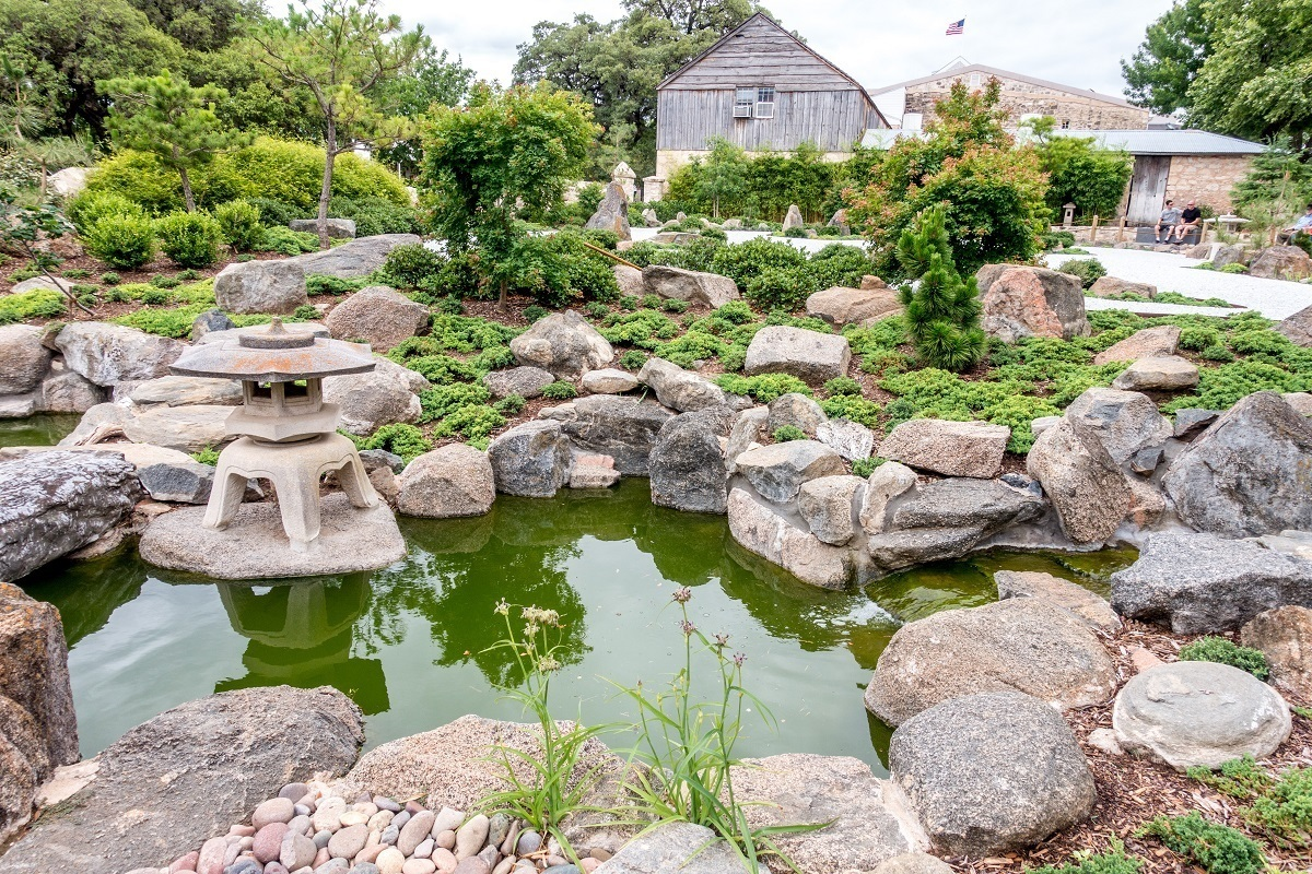 Japanese Garden of Peace with rocks and pond
