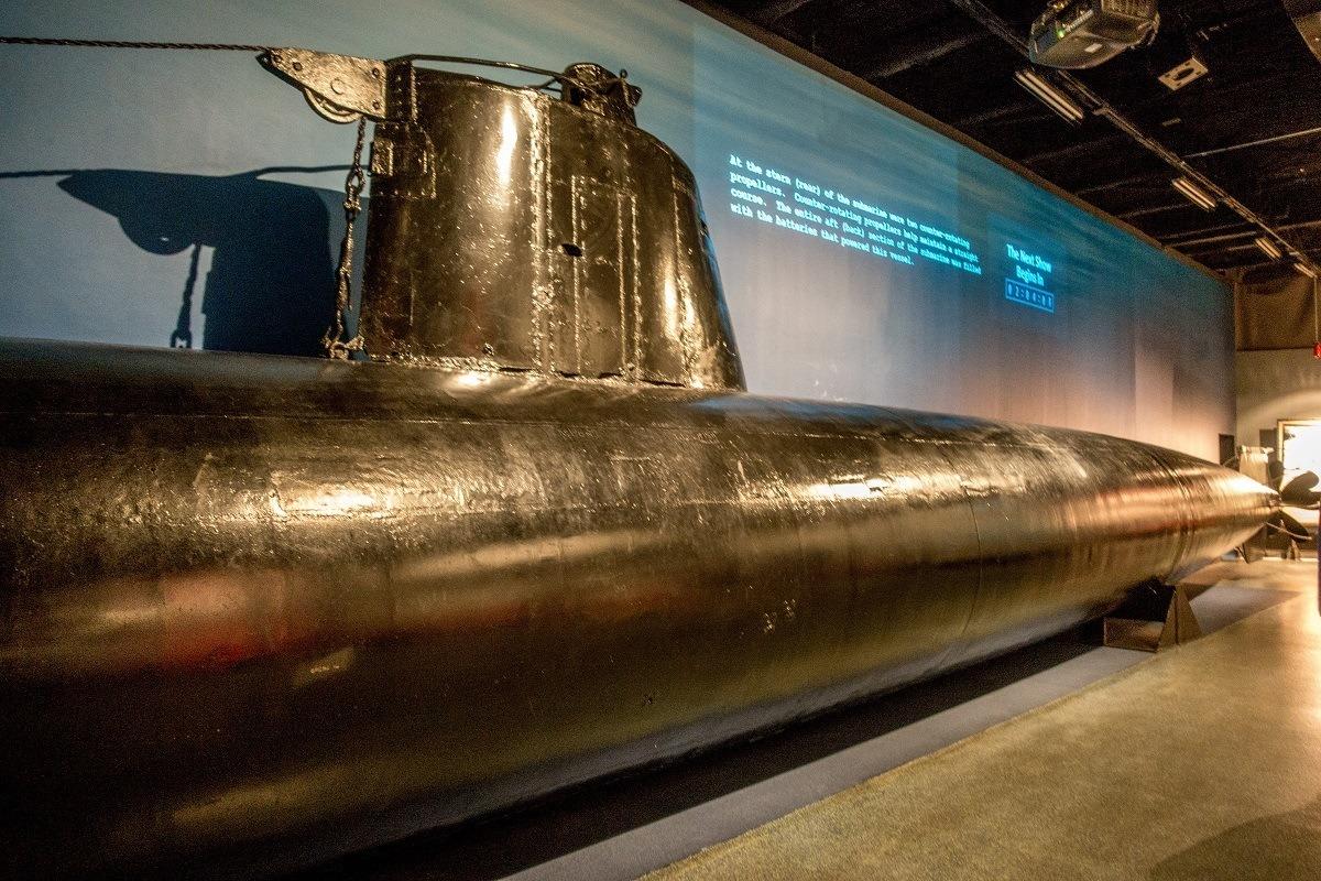 Japanese midget submarine on display