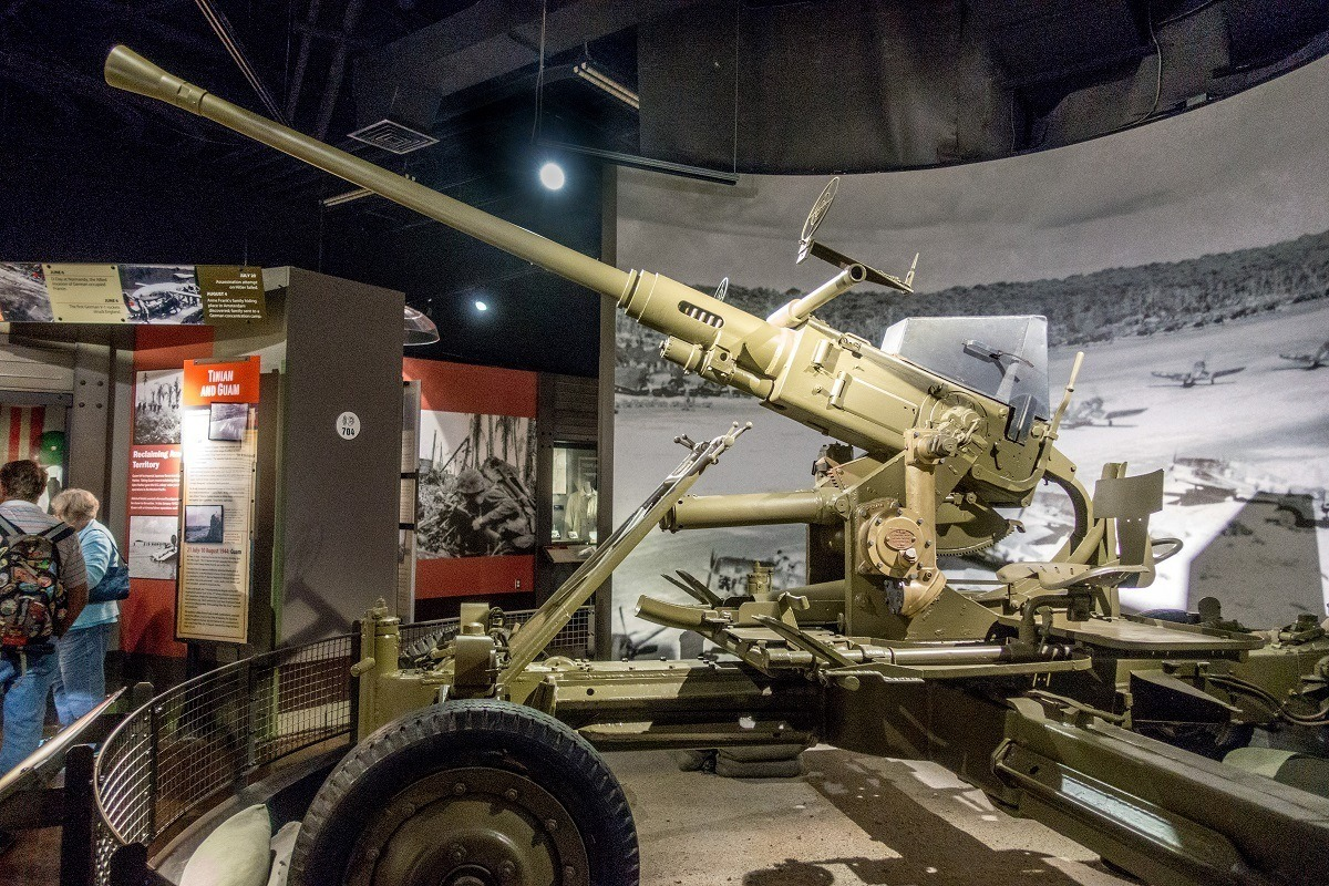 Gun used during the war in the Pacific