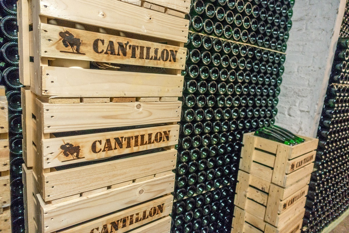 Bottles and crates of beer