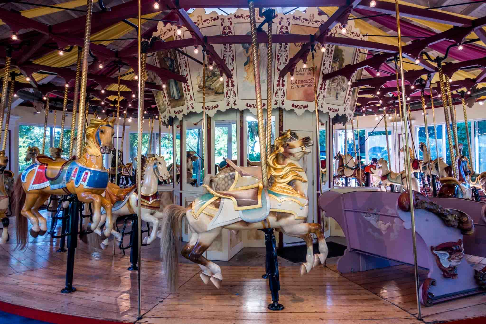 Colorful carousel ride