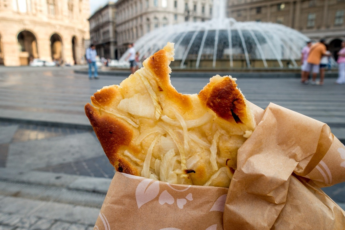 Focaccia is one of the must-try foods in Genoa, Italy