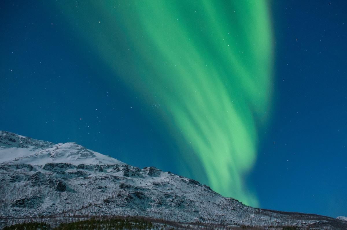 Northern Light display in Norway