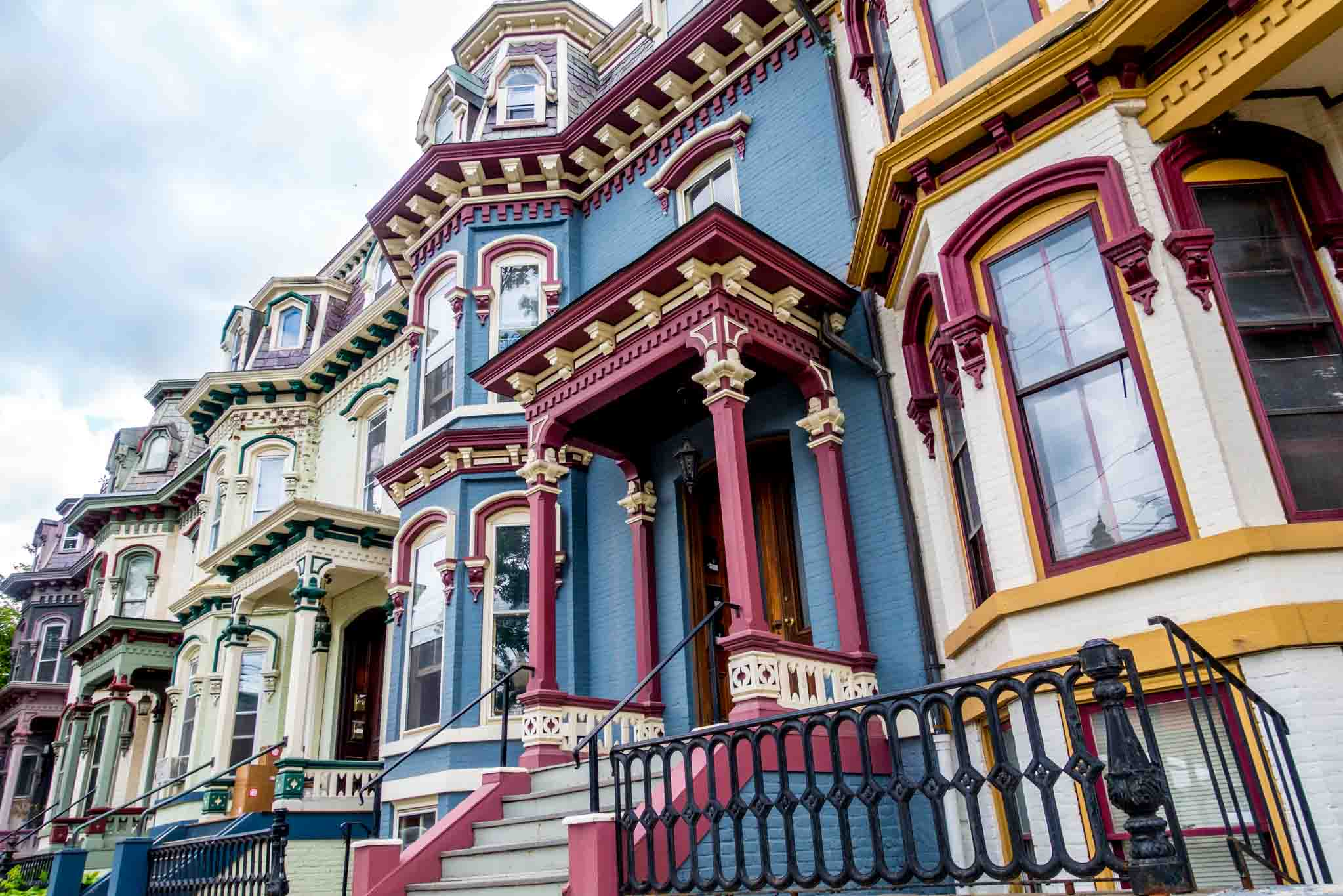 Colorful Victorian houses of Clinton Avenue
