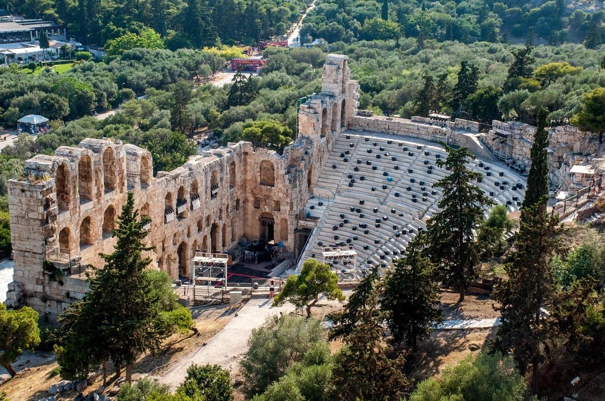 Ancient stone amphitheater